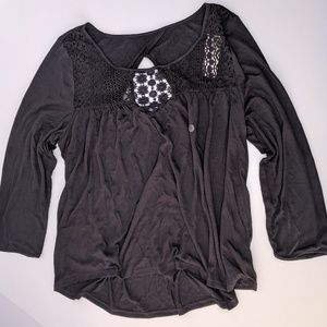 NWT American Eagle Outfitters Blouse Black Large